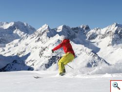 Skifahren im Kühtai